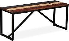 Banco de madera maciza reciclada 110x35x45 cm -