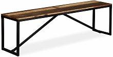 Banco de madera maciza reciclada 160x35x45 cm -