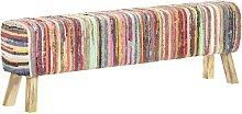 Banco de tela chindi multicolor 160 cm - Multicolor