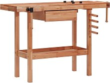 Banco de trabajo carpintería con cajón y 2