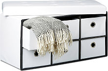 – Banco/taburete plegable con 6 compartimentos