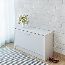 Banco zapatero 80x24x45 cm blanco - Blanco