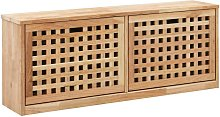 Banco zapatero de madera maciza de nogal 94x20x38