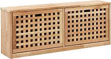 Banco zapatero de madera maciza de nogal
