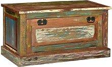 Banco zapatero de madera maciza reciclada - Hommoo