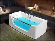 Bañera de hidromasaje acristalada con leds DYONA