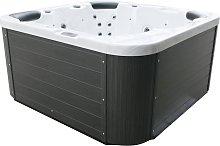 Bañera de hidromasaje de exterior blanca SANREMO