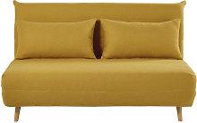 Banqueta-cama de 2 plazas amarillo mostaza