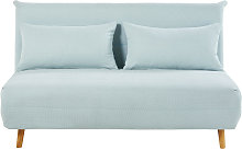 Banqueta-cama de 2 plazas azul glaciar