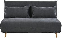 Banqueta-cama de 2 plazas gris antracita