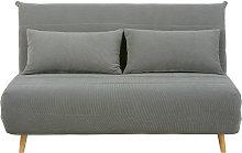 Banqueta-cama de 2 plazas gris claro
