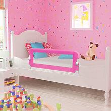 Barandilla de seguridad cama de nino rosa 102x42