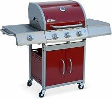 Barbacoa de gas, cocina de exterior, Rojo, 3