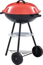 Barbacoa portátil de carbón con ruedas XXL 44 cm