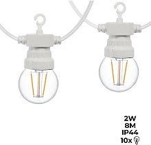 Barcelona Led - Guirnalda LED cable blanco 10