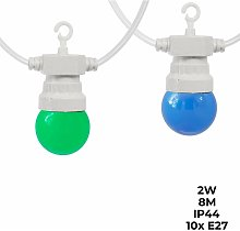 Barcelona Led - Guirnalda LED Multicolor cable
