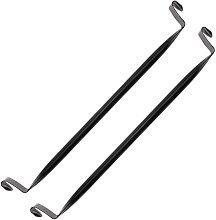 Barra de colgar negra de 35cm para armario