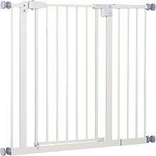 Barrera de seguridad de color blanco Pawhut