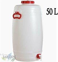 Barril de polietileno alimentario 50 litros para