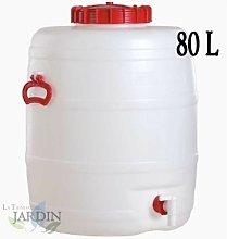Barril de polietileno alimentario 80 litros para