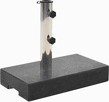Base de sombrilla de granito rectangular negro 25