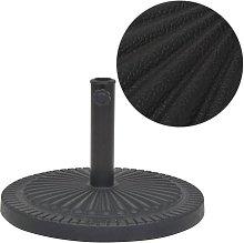 Base de sombrilla de resina redonda negro 14 kg -