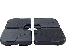 Base para sombrilla antracita 4 piezas CARIA