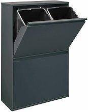 Basic Cubo de basura y reciclaje de acero de 4