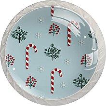 Bastones de caramelo de Navidad (juego de 4) pomos