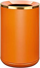 Basura del Cubo Bote de basura de metal naranja