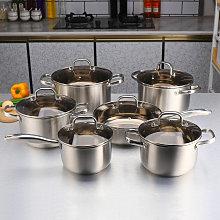 Bateria Cocina | Olla de sopa |inoxidable cacerola
