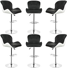Bathrins - Conjunto de 6 taburetes de bar, silla