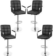 Bathrins - lote de 4 sillas de bar con apoyabrazos