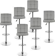 Bathrins - lote de 6 taburetes de bar, silla de