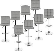 Bathrins - lote de 8 taburetes de bar, silla de