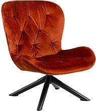 Batilda - Silla reclinable (patas negras), color