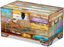 Baúl de almacenamiento de madera maciza reciclada