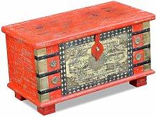 Baúl de almacenamiento madera de mango rojo