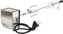 BBQ-Toro Pincho Giratorio con Motor I Acero Inoxidable I Para 11 Pinchos I Altura Regulable 70 x 26-40 cm I Con Enchufe y Cable USB