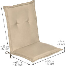 Beautissu Loft NL - Cojín para sillas de balcón