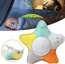 Bebé durmiendo cinco puntas estrella lámpara de