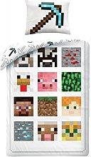 Bed Set Minecraft Caracteres Plaza Pixel Funda De
