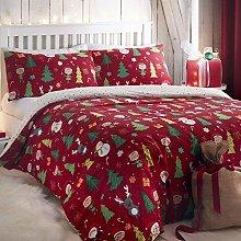 Bedlam Elf & Santa-Easy Care - Juego de Funda de