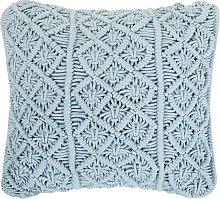 Beliani - Cojín decorativo 45x40 cm azul GOREME