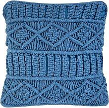 Beliani - Cojín decorativo 45x45 cm azul KARATAS