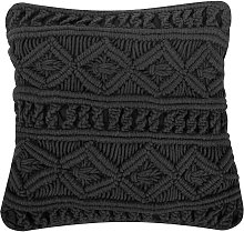 Beliani - Cojín decorativo 45x45 cm negro MUDANYA