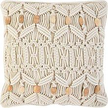 Beliani - Cojín decorativo beige 45x45 cm NICAEA