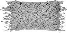 Beliani - Cojín decorativo gris 30x45 cm KIRIKKALE