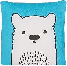 Beliani - Cojín decorativo oso azul 45x45 cm