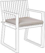 Beliani - Cojin para silla SASSARI gris pardo